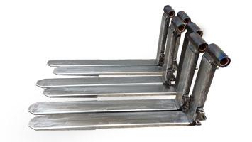 Produktion beschichteten Gabelzinken für Stapler